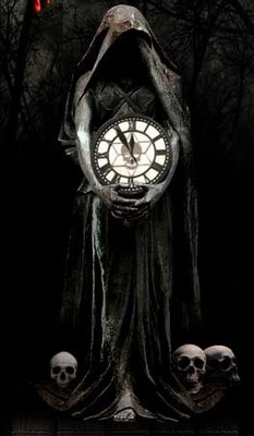 """""""Welcome to the Death Clock(TM), the Internet's friendly reminder that life is slipping away…second by second. Like the hourglass of the Net, ..."""
